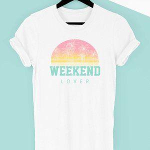 Weekend Lover Graphic Tee Short Sleeve S - 3X